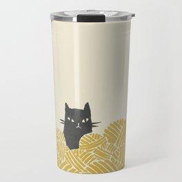 Cat and Yarn Travel Mug