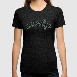 Curly blue grey shadow T-shirt