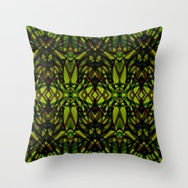 Fractal Art Stained Glass G313 Throw Pillow