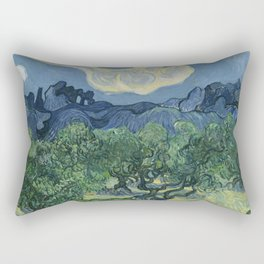 Vincent van Gogh - Olive Trees in a Mountainous Landscape Rectangular Pillow