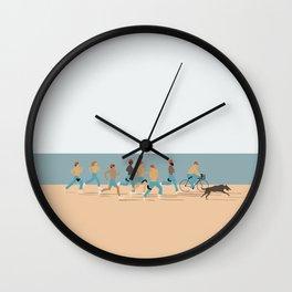 life aquatic poster Wall Clock