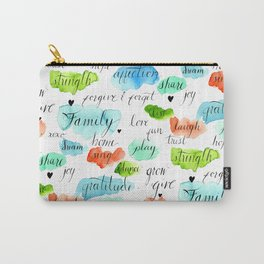 Family - Watercolor Carry-All Pouch