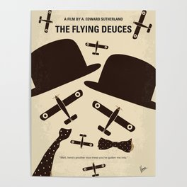 No983 My The Flying Deuces minimal movie poster Poster