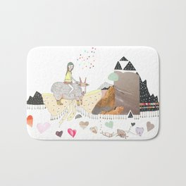 Hermit Crab vs. Snail Bath Mat