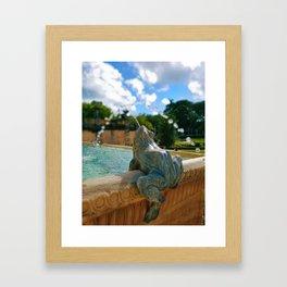 Singing Water Frog Framed Art Print