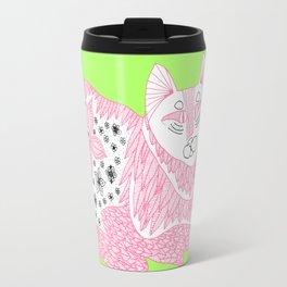 Pink Kitty Travel Mug