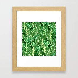 Holly Jolly Leaves (Large Pattern) Framed Art Print