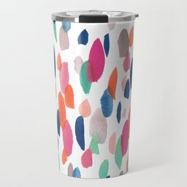 Watercolor Dashes Travel Mug