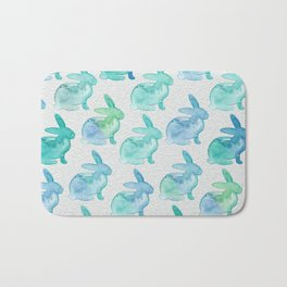 Watercolor Bunnies 1I by Kathy Morton Stanion Bath Mat