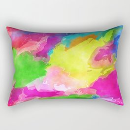 Watercolor Ink Abstract Rectangular Pillow