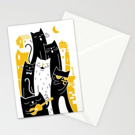 Singing cats - Gatos cantando Stationery Cards