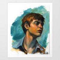 Nic : Portrait Art Print
