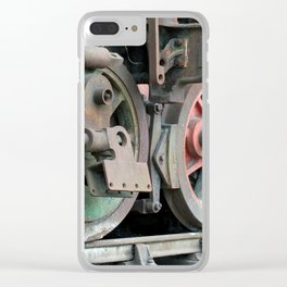 rusty abandoned steam locomotive Clear iPhone Case