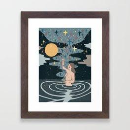 Full Moon blessings Framed Art Print