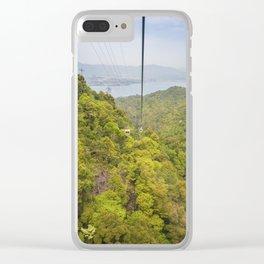 Riding the ropeway on Miyajima Island in Japan Clear iPhone Case