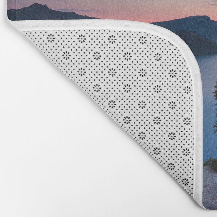 Sunrise At Crater Lake Bath Mat