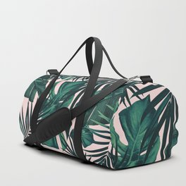 Tropical Jungle Leaves Pattern #5 #tropical #decor #art #society6 Duffle Bag