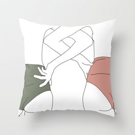 Figures line drawing - Elinor Throw Pillow