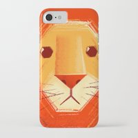 lion iPhone & iPod Cases featuring Sad lion by Lime