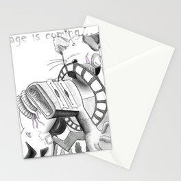 Cyborg Cat Thing Stationery Cards