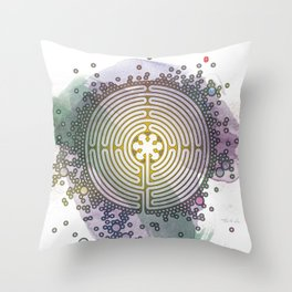Meditative Labyrinth Throw Pillow