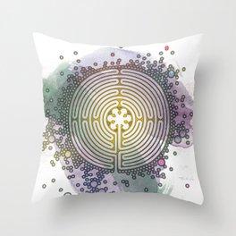 Meditative Labyrinth Throw Pillow