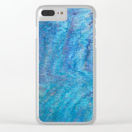 Blue tangles Clear iPhone Case
