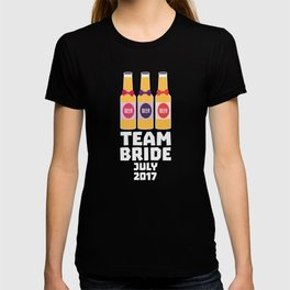 Team Bride July 2017 T-Shirt for all Ages Dh8ct T-shirt
