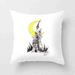 Crumbling Castle Throw Pillow