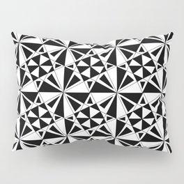 black and white symetric patterns 4- bw, mandala,geometric,rosace,harmony,star,symmetry Pillow Sham