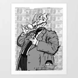 War (a) - noisrevbuS (1) Art Print