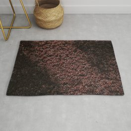 Autumn's red hedge Rug