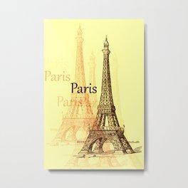 Eiffel Tower, Paris France Metal Print
