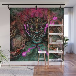 Japanese Dragon Mask Wall Mural