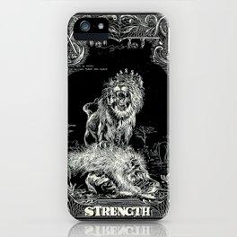 STRENGTH of Tarot Cat iPhone Case
