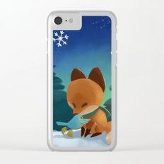 Fox & Boots - Winter Hug Clear iPhone Case