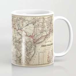 Map of the Erie Railroad (1869) Coffee Mug