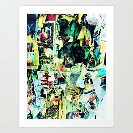 face in the crowd Art Print