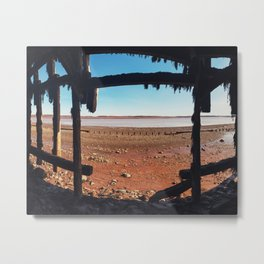 Among the Pilings Metal Print