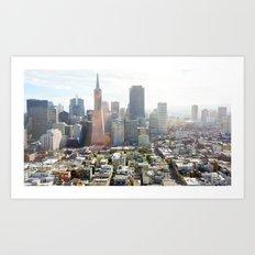 San Francisco Downtown - California Art Print