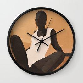 Minimal Abstract Art Sunset Girl 4 Wall Clock