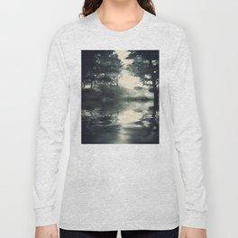 Misty pine forest Long Sleeve T-shirt