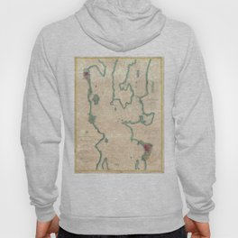 Vintage Map of Lake Champlain (1874) Hoody