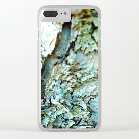 Tree Bark Color Clear iPhone Case