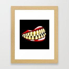 Bullet Teeth Framed Art Print