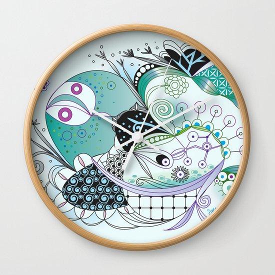 Winter tangle Wall Clock