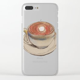Coffee Lines Clear iPhone Case
