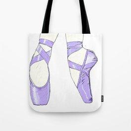 Ballet Pumps: Purple Tote Bag