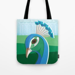 Stately Peacock Tote Bag