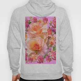 PINK-YELLOW ANTIQUE ROSES VIGNETTE Hoody